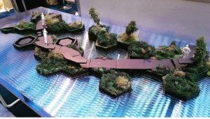 Model plovoucího parku