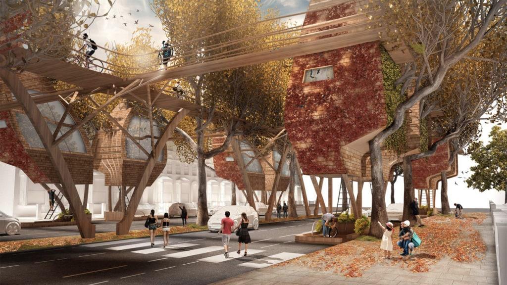 Udržitelné bydlení na stromech